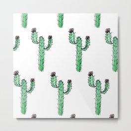 Cactus Flower II Pattern Metal Print