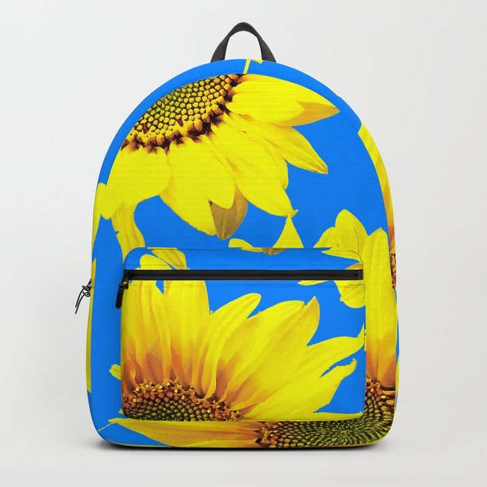 Sunny Sunflowers with blue sky - summer mood - #Society6 #buyart Backpack
