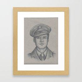 Sgt. James Barnes Framed Art Print