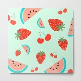 Fruit salad (Mint) Metal Print