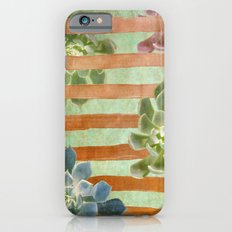 Copper Stripes and Succulents Slim Case iPhone 6s