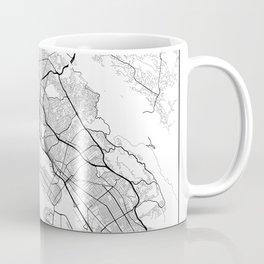Minimal City Maps - Map Of Oakland, California, United States Coffee Mug