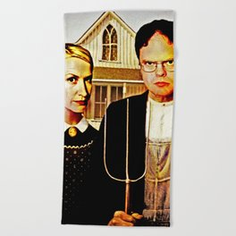 Dwight Schrute & Angela Martin (The Office: American Gothic) Beach Towel
