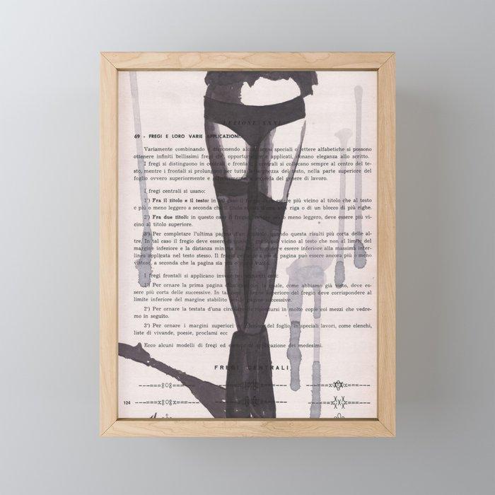 Lesson XXXI Framed Mini Art Print