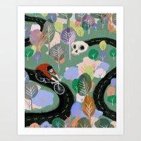 monty python Art Prints featuring Monty by Victoria Borges