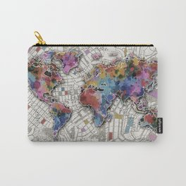 world map urban vintage Carry-All Pouch