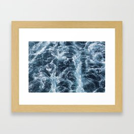 Sea Blue Wake - Pacific Ocean Framed Art Print