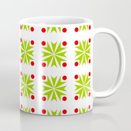 Symmetric patterns 138 green and red Coffee Mug