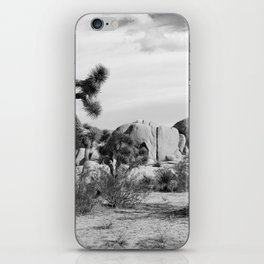Black and White Joshua Tree National Park iPhone Skin