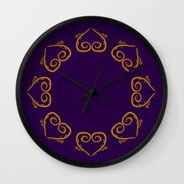 Luxury Folk Ornaments Gold Wall Clock