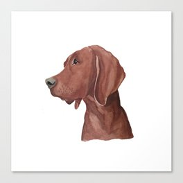 Watercolor dog Canvas Print