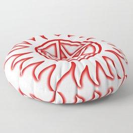 Anti Possession Sigil Red Glow Transp Floor Pillow