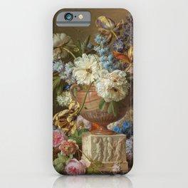 Flower still life in an alabaster vase, Gerard van Spaendonck, 1783 iPhone Case