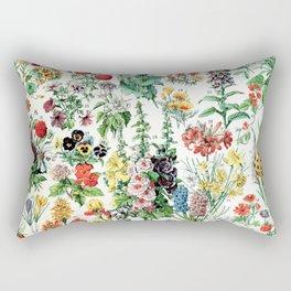 Adolphe Millot - Fleurs A - French vintage poster Rectangular Pillow