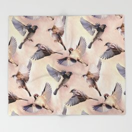 Sparrow Flight Throw Blanket