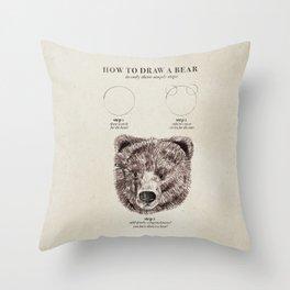 circle, circle, bear Throw Pillow