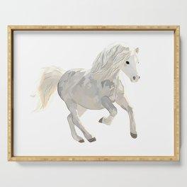 White horse art Serving Tray