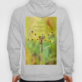 Dragonfly ~ Quote Leave Ordinary Behind ~ Ginkelmier Inspired Hoody