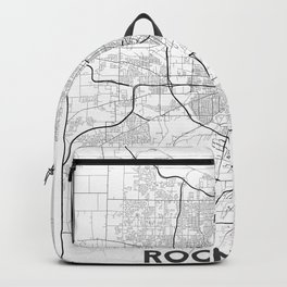 Minimal City Maps - Map Of Rochester, New York, Untited States Backpack