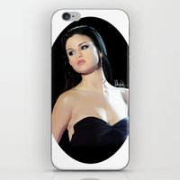 selena gomez iPhone & iPod Skins featuring Selena by kelsey cooke art