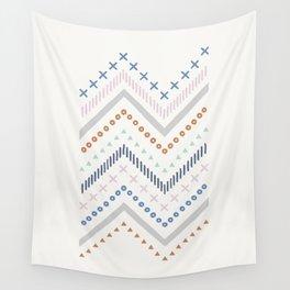 Mixed Zig Zag - Cobalt Wall Tapestry