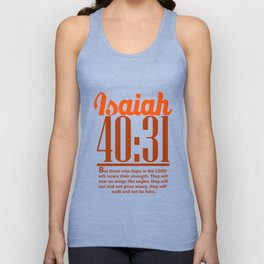 Bible Verse Isaiah 40:31 Christian Quote Unisex Tank Top