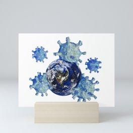 Virus takes earth Mini Art Print