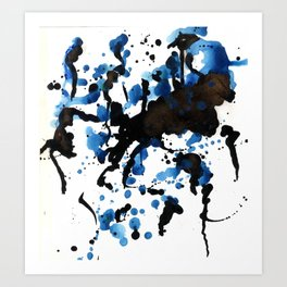 Pooled ink Art Print
