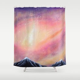 Lila-cosmic play Shower Curtain
