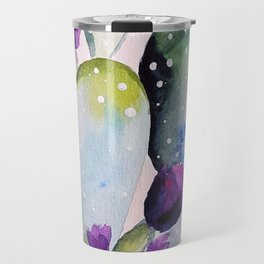 CACTUS WATERCOLOR PAINTING Travel Mug