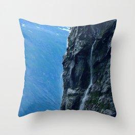 Misty Waterfall Throw Pillow