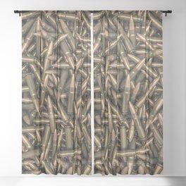 Rifle bullets Sheer Curtain