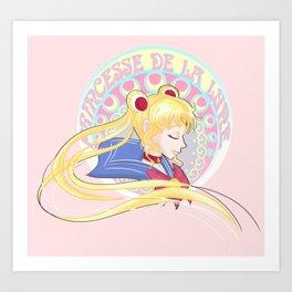 Princesse De La Lune Art Print