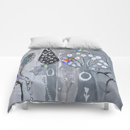 Paper Painting Forest #society6 Comforters
