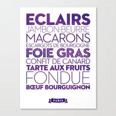Paris — Delicious City Prints Canvas Print