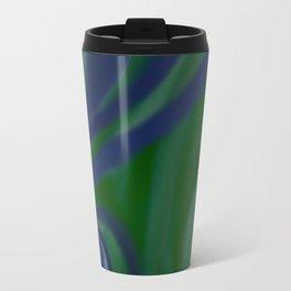 BLUE and green SWIRL Travel Mug