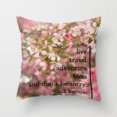 rules of life - jack kerouac  Throw Pillow