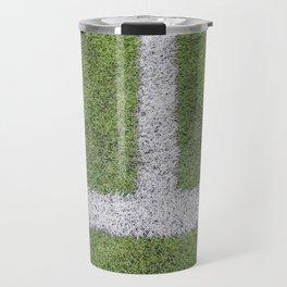 Sideline football field, Sideline chalk mark artificial grass soccer field Travel Mug