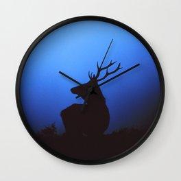 RED DEER AT DAWN Wall Clock