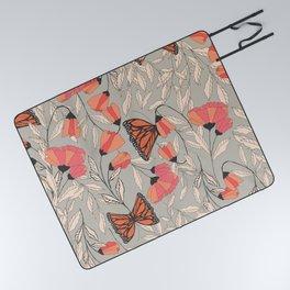 Monarch garden 001 Picnic Blanket