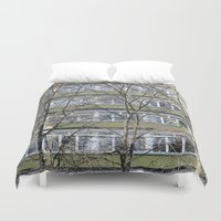 germany Duvet Covers featuring Berlin Germany by Sanchez Grande