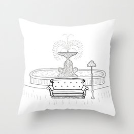 Friends - the one with the sofa Throw Pillow