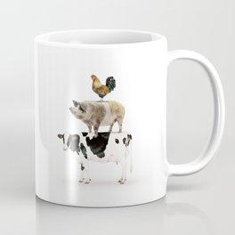 Three Stacked Farm Animals Coffee Mug