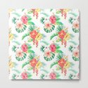 tropical watercolor floral pattern by anyuka