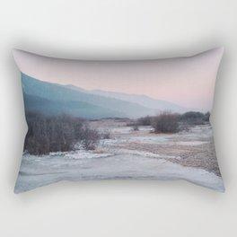 Frozen morning Rectangular Pillow