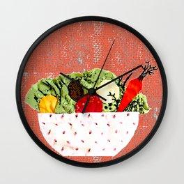 Spring bowl Wall Clock