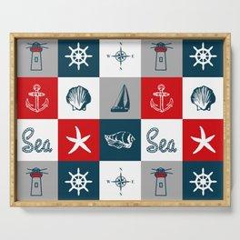 Nautical design 4 Serving Tray