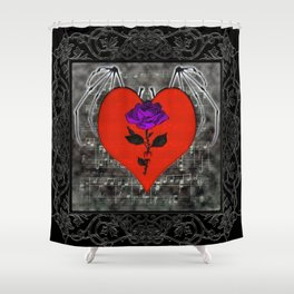 Music For The Soul Gothic Art Shower Curtain