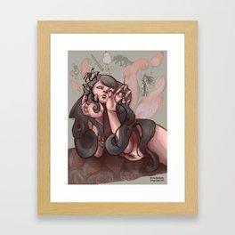 Grey Fairy Framed Art Print