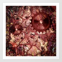 steampunk Art Prints featuring Steampunk by MehrFarbeimLeben